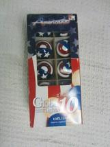 "Americana~10  2"" Bulbs~Globe Lights~Indoor/Outdoor Use~10' Lighted Lengt... - $9.89"