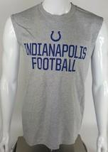Indianapolis Colts NFL Team Apparel Football Mens Medium Tank Top Gray B... - $13.09
