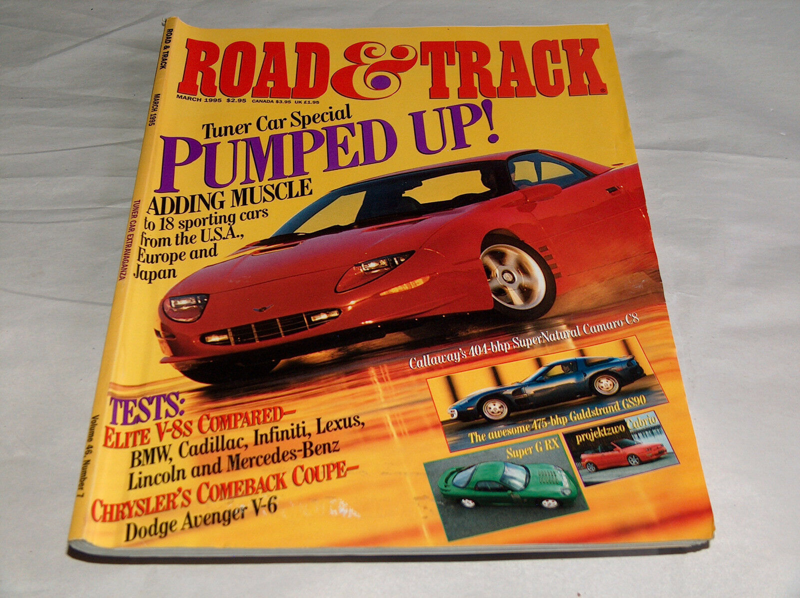 Primary image for Road & Track 1995 Car Truck Magazine Callaway's 404-bhp Super Natural Camaro C8