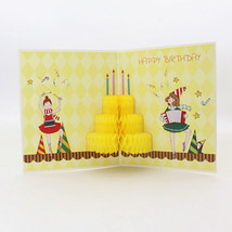 Birthday Party --3D Birthday Card, 3D Honeycomb Style Greeting Card - $4.96