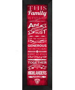 "Radford University ""Highlanders"" 24 x 8 Family Cheer Framed Print - $39.95"
