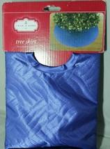 """Trim A Home Blue Christmas Tree Skirt Quilted Design 48"""" = 122cm Diamete... - $15.81"""