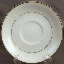"Noritake Dawn Saucer 5-5/8"" White Fine China w Gold Trim 5930 - $4.95"