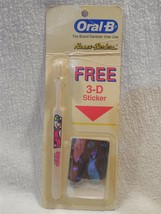Flintstones 1991 Oral-B Dino Flintstone Toothbrush Sealed w/Free 3-D Sti... - $7.95