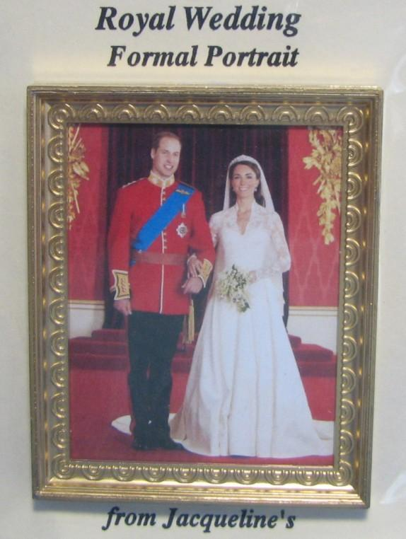 DOLLHOUSE Royal Wedding Formal Portrait Jacquelines 9969 Wills Kate Miniature image 3