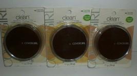 Covergirl Clean Pressed Powder #145 Warm Beige Normal Skin Compact Lot of 3 WORN - $17.75