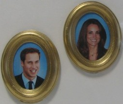 DOLLHOUSE Wills & Kate Engagement Portraits 9961GM Jacquelines Royalty Miniature image 1