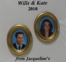 DOLLHOUSE Wills & Kate Engagement Portraits 9961GM Jacquelines Royalty Miniature image 2
