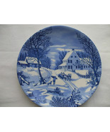 The Homestead In Winter Collector Plate Sleigh Ride 8 Inches Diameter - $12.86