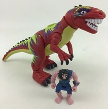 Imaginext Slasher Allosuarus Dinosaur with Caveman Figure Sounds Batteri... - $21.73