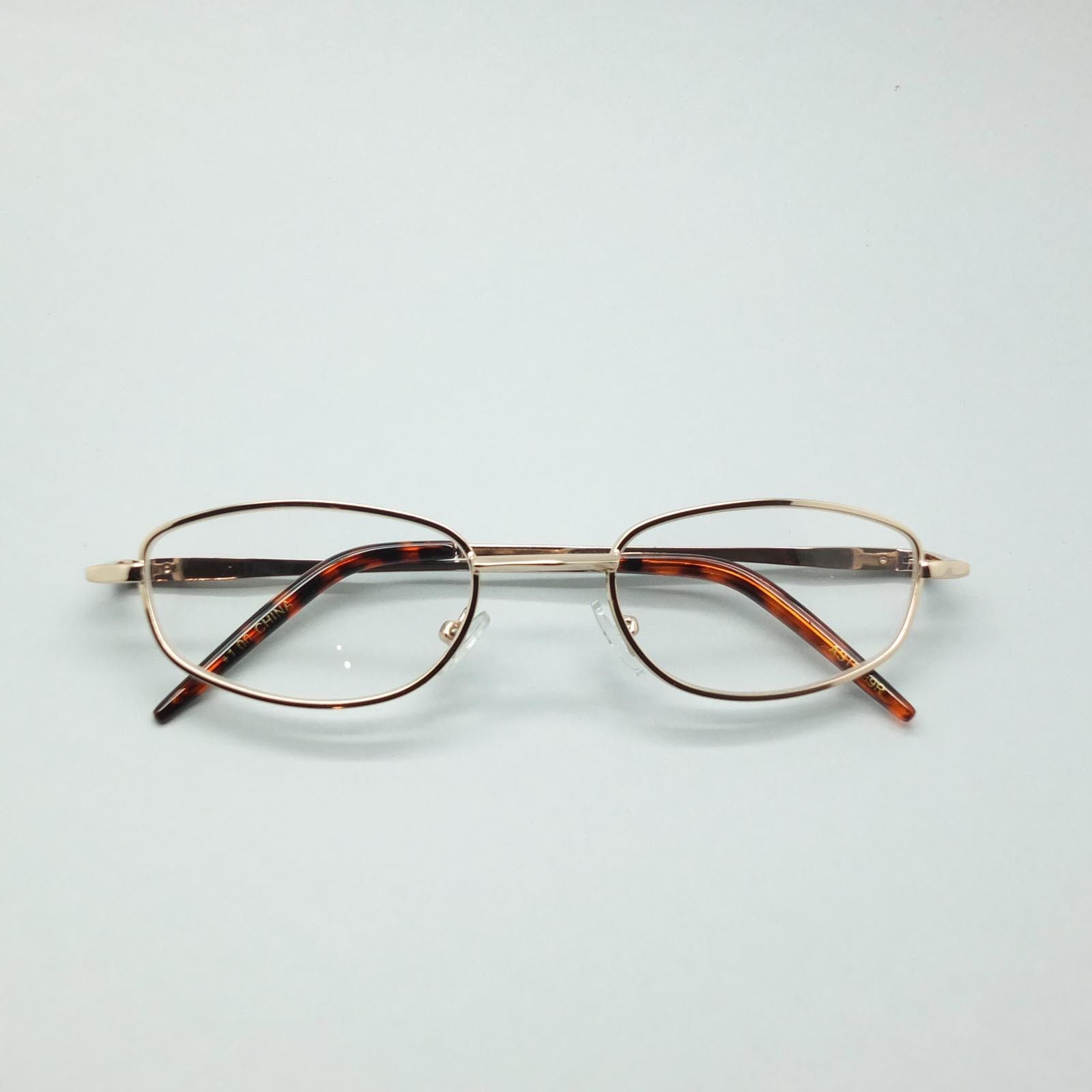 Wire Rim Polished Gold Frame Reading Glasses Lightweight Small Lens +1.50