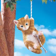 Hand-Painted Outdoor Swinging Cat - $21.50