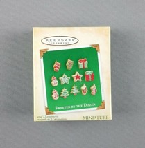 "Hallmark 2004 Keepsake Christmas Miniature Ornament Set ""Sweeter By The ... - $29.65"