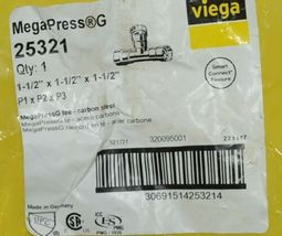 Viega MegaPress G Carbon Steel Reducing Tee Smart Connect Feature 25321 image 4