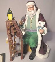 "Thomas Kinkade - ""St Nicholas Checks His List"" Figurine COA - $25.00"