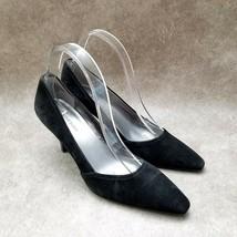 """Anne Klein Womens Machariotsm  Sz 8 M Black Leather Slip On 3"""" Heels Pumps - $27.99"""
