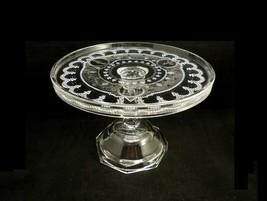 EAPG Antique Adams n Co. No. 17 MINERVA Cake Stand Roman Medallions c188... - $34.95