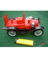 VINTAGE SOVIET USSR NORMA FACTORY FIRE TRUCK TOY PLASTIC  MISSING PARTS - $36.24