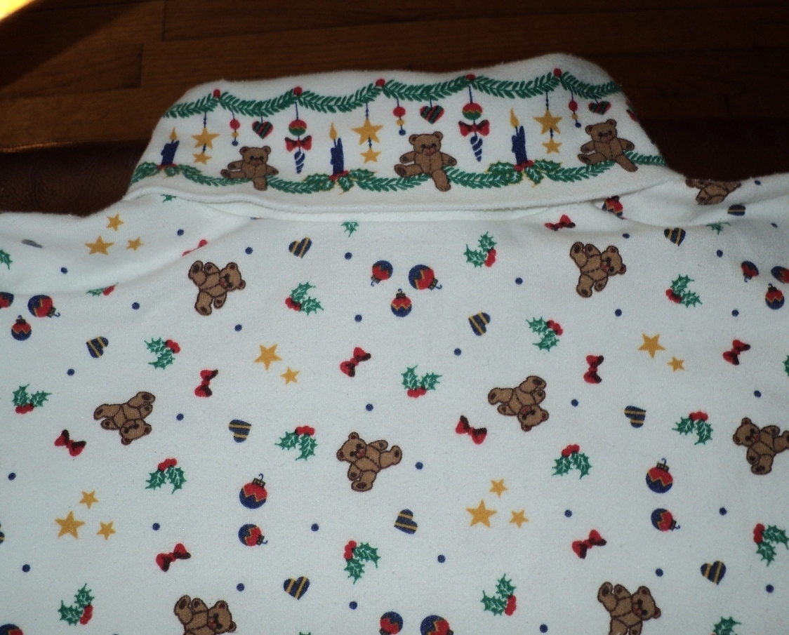Ugly Christmas Shirt for Sweater Bears Ornament Star Size Medium 43 Chest Unisex image 2