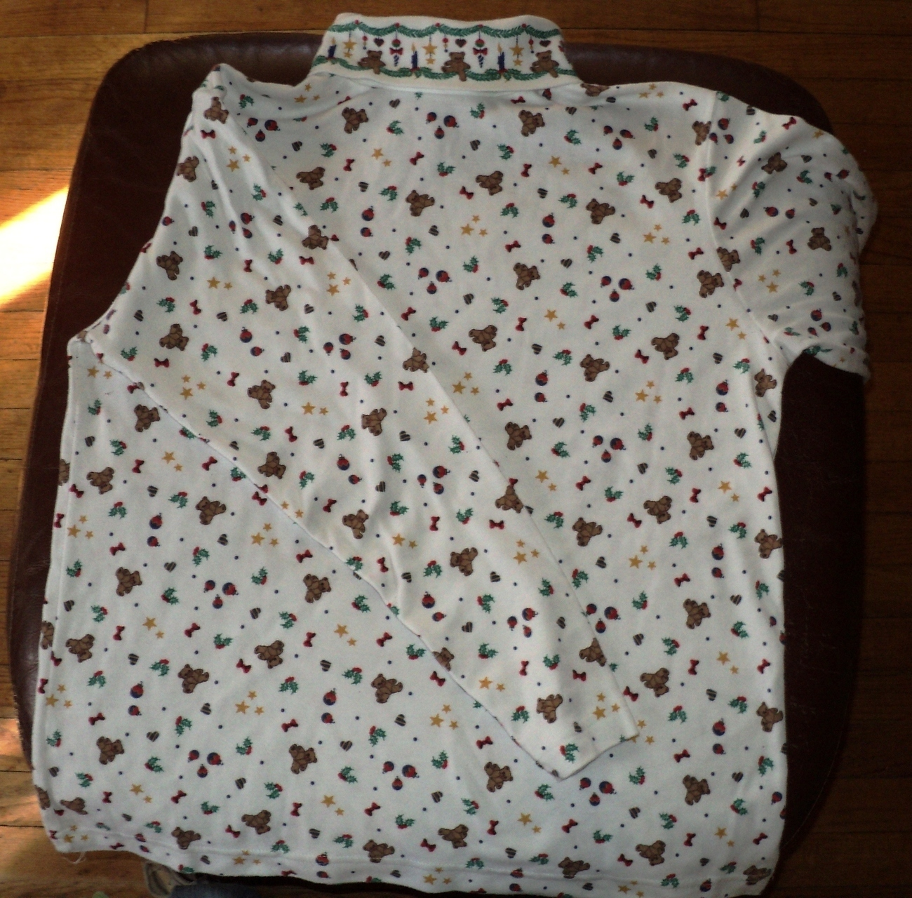 Ugly Christmas Shirt for Sweater Bears Ornament Star Size Medium 43 Chest Unisex image 4