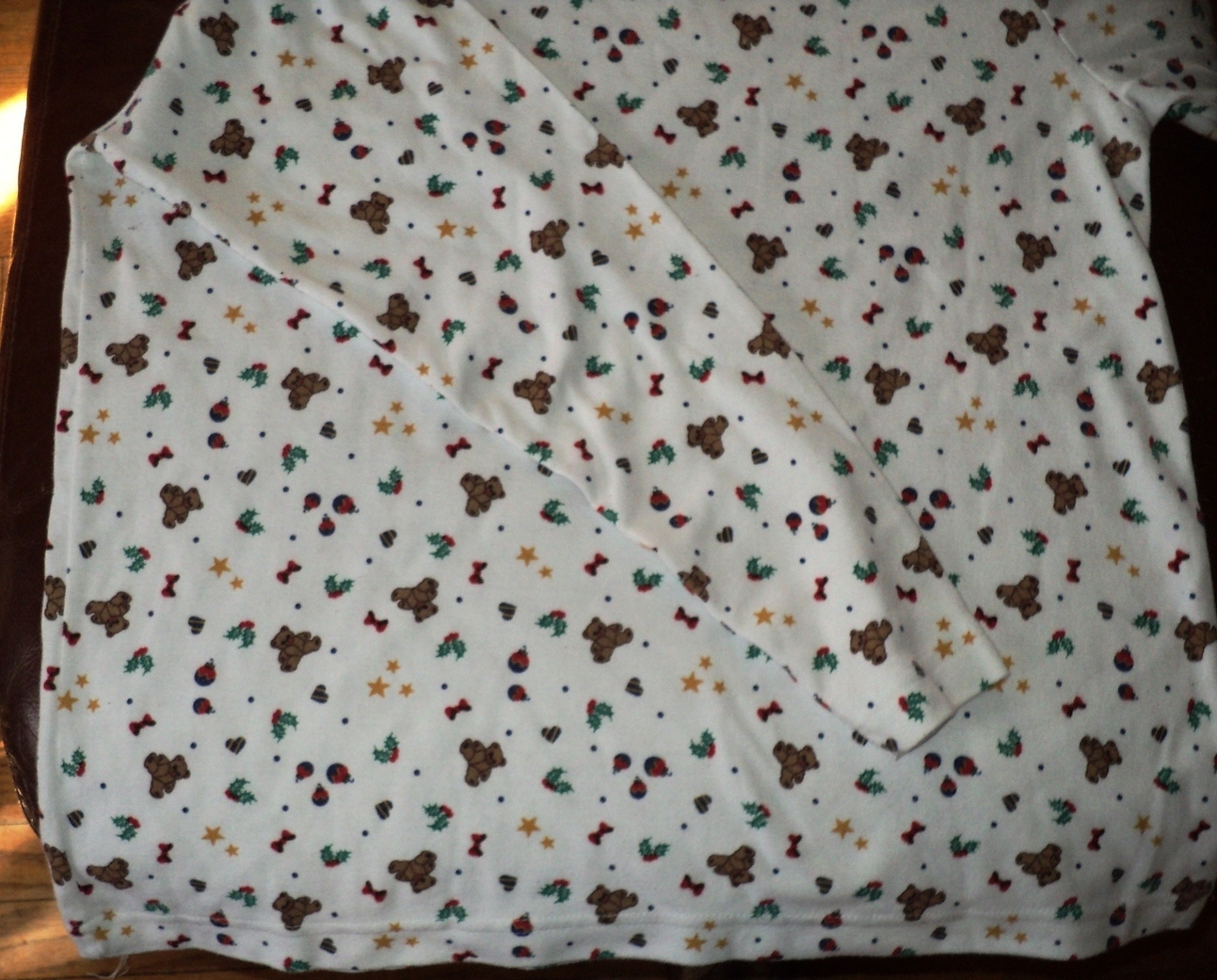 Ugly Christmas Shirt for Sweater Bears Ornament Star Size Medium 43 Chest Unisex image 5