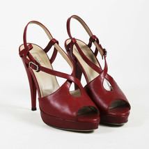Valentino Leather Strappy Peep Toe Pumps SZ 38 - $305.00