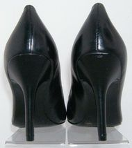 Jessica Simpson 'Henri' black leather patent round toe slip on heels 9.5B 6348 image 4