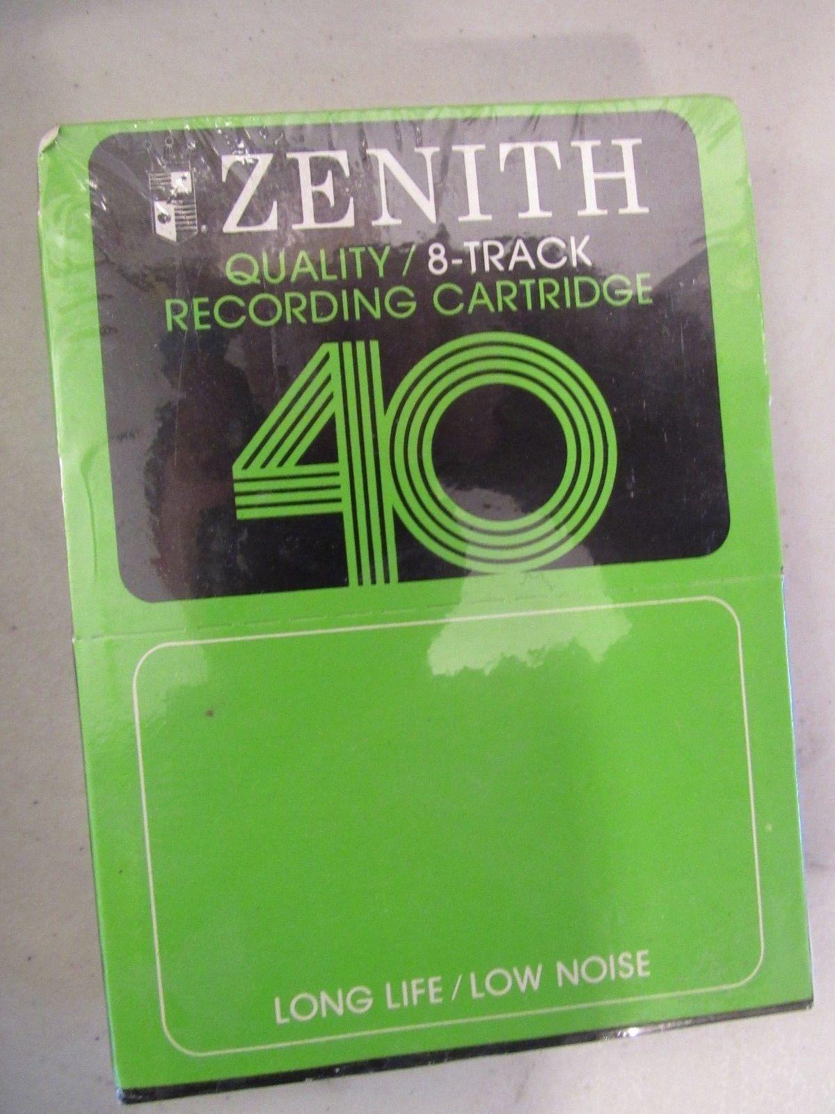 Lot of 2 Vintage 8-Track Storage Case Holder for 12 Cartridges & Blanks Tapes