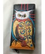 Andy Everson Womens Owl Zip Billfold Wallet cedar paddle Canada  - $37.39