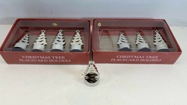 Sur La Table Christmas Tree Placecard Holders Set Of 4 Lot Of 2 - $18.76