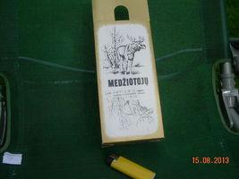Vintage Soviet Ussr Lithuanian Hunter's Vodka Thin Cartoon Box  About 1975 - $9.29