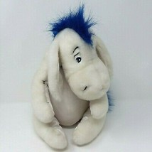"Disney Store Winter White Eeyore with Blue Scarf 12.5"" Plush Removable T... - $15.76"