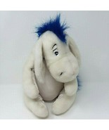 """Disney Store Winter White Eeyore with Blue Scarf 12.5"""" Plush Removable T... - $15.76"""