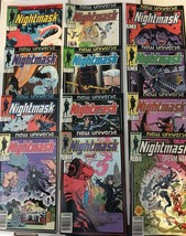 Nightmask 1 - 12 New Universe Marvel Comic Book COMPLETE SET 1986-87 VF+ - $22.49