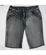 Zana Di Charcoal Gray Distressed Size 8 Bermuda Capris Shorts - $10.99