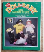 Little Doll Baby Easy Fashions to Sew 14 inch pattern craft leaflet - $7.65