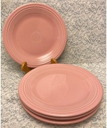"Fiesta Fiestaware Rose retired pink dinner plates 10.5"" set of 4 Homer Laughlin - $36.00"