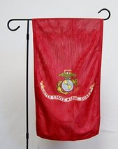 "US Marine Corps 12""x18"" Licensed Polyester Double Sided Garden Flag With... - $29.95"