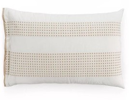 Hotel Collection Modern Eyelet Beige 100% Cotton Standard Sham ONE SHAM - $26.99
