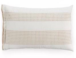 Hotel Collection Modern Eyelet Beige 100% Cotton Standard Sham ONE SHAM - $26.99