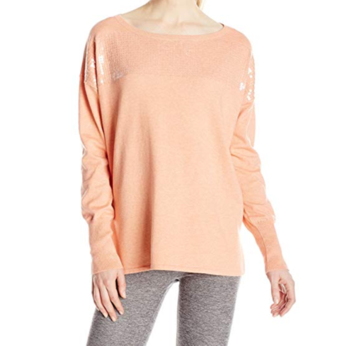 Small 4-6 Lole Women's Jen Sweater Knit Shirt Long Sleeve Iced Tea NEW