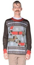 Ugly Christmas Sweater Weiner Dog Mens Adult Costume Halloween Party FR1... - $47.99
