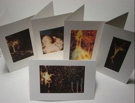 Handmade Christmas Cards Christian Religious Figures Formed in Rust Set ... - $9.85
