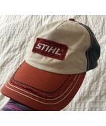 STIHL Distressed Red, White & Blue Cool Contrast Stitching Patch Logo Ha... - $37.99