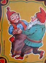 DUCADO SOLINGEN Vintage Old Coin Tin Box 2 Dwarfs Elves Dancing Stamped Germany image 2