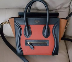 NWT CELINE NANO LUGGAGE 3-color leather tote bag; $2900 - $2,000.00