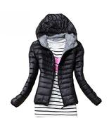 New Winter Jacket Women Outerwear Slim Hooded Down Jacket Woman Warm Coa... - $24.99