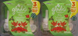 Lot of 2 Glade PlugIns Refill 3 ct Packs Flirty Orchard Kiss Limited Edi... - $32.00