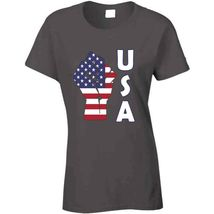 Fight Power Usa Ladies T Shirt image 4
