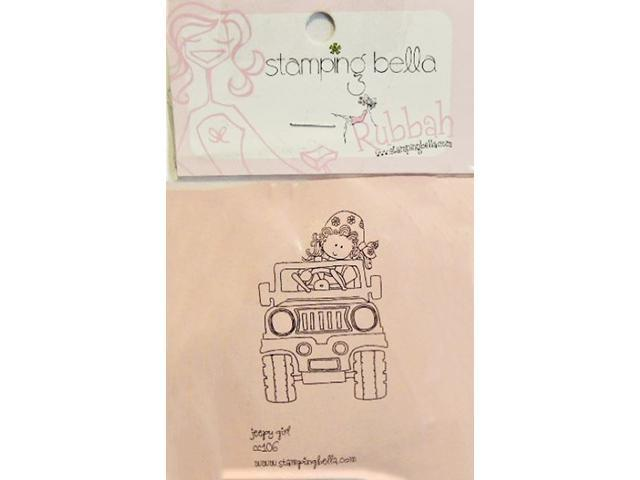 Stamping Bella Jeep Girl Unmounted Rubber Stamp #CC106